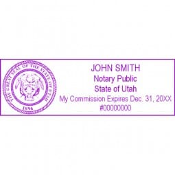Utah Notary Self-Inking Stamp - 1 x 2-3/4