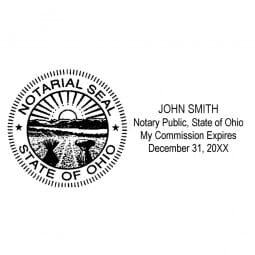Ohio Notary Pre-Inked Pocket Stamp - 1-7/16 x 3-1/8