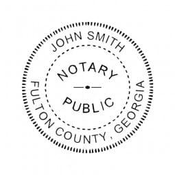 Georgia Notary Self-Inking Stamp - 1-5/8 Diam. Round