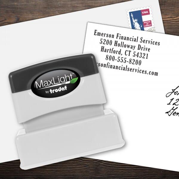 Custom 5 Line MaxLight Name and Address Stamp