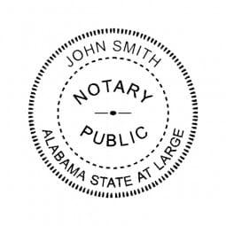 Alabama Notary Desk Seal - 1-5/8 Diam. Round