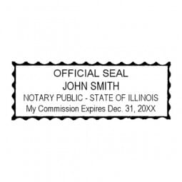 Illinois Notary Pre-Inked Stamp - 15/16 x 2-13/16