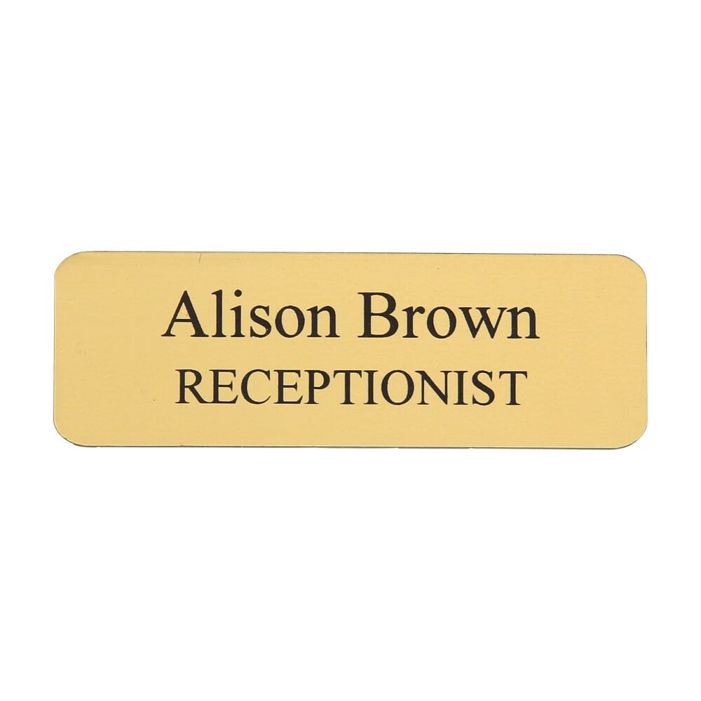 Custom Engraved Name Badge Plastic 1