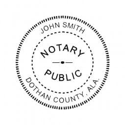 Alabama Notary Self-Inking Stamp - 1-5/8 Diam. Round