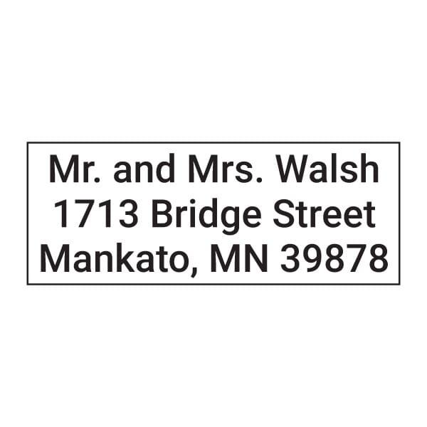 Custom 3 Line Imprint 11 Name and Address Stamp