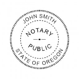 Oregon Notary Pre-Inked Pocket Stamp - 2 Diam. Round