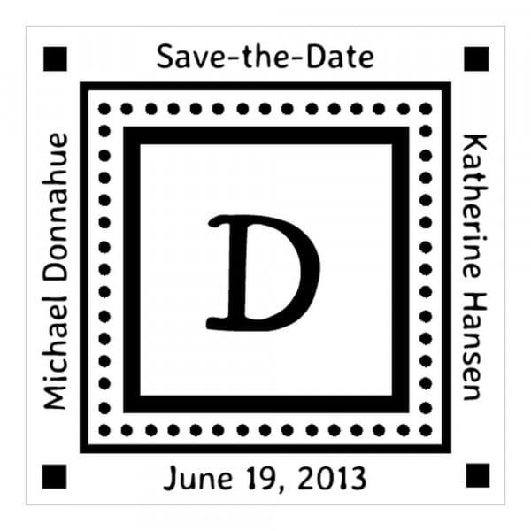 Monogram stamp squared - No  48