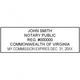 Virginia Notary Pre-Inked Stamp - 15/16 x 2-13/16
