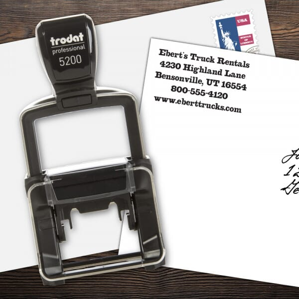 Custom 5 Line Trodat Professional Name and Address Stamp