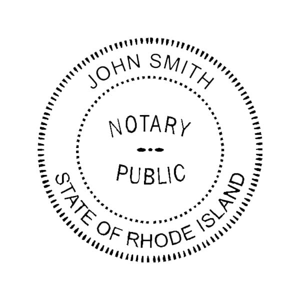 Rhode Island Notary Pocket Seal - 1-5/8 Diam. Round