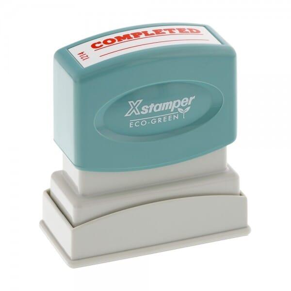 Xstamper Pre-Inked Stock Stamp - COMPLETED (1214)