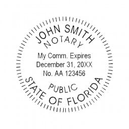 Florida Notary Pre-Inked Pocket Stamp - 2 Diam. Round