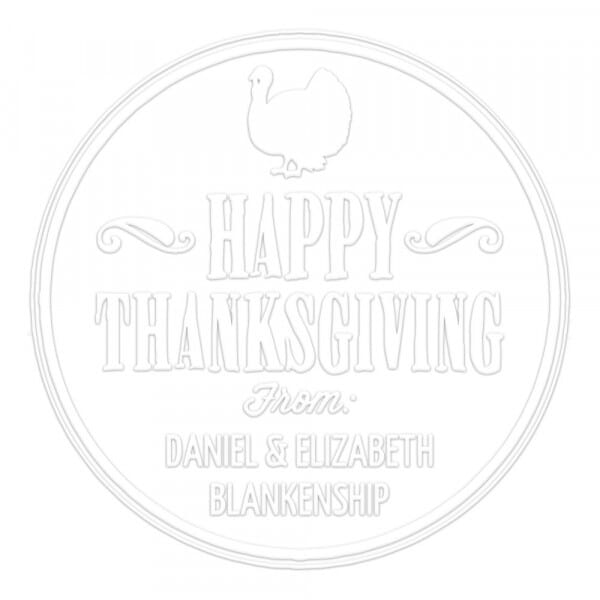 Happy Thanksgiving Round Monogram Seal