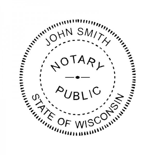 Wisconsin Notary Desk Seal - 1-5/8 Diam. Round