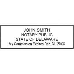 Delaware Notary Pre-Inked Stamp - 15/16 x 2-13/16