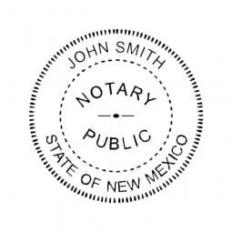New Mexico Notary Pocket Seal - 1-5/8 Diam. Round