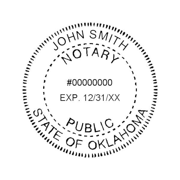 Oklahoma Notary Self-Inking Stamp - 1-5/8 Diam. Round
