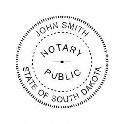 South Dakota Notary Self-Inking Stamp - 1-5/8 Diam. Round