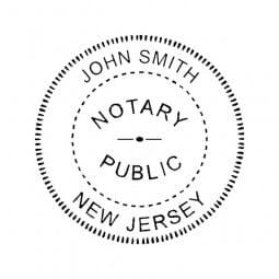 New Jersey Notary Pre-Inked Pocket Stamp - 2 Diam. Round