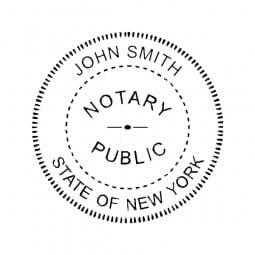New York Notary Self-Inking Stamp - 1-5/8 Diam. Round