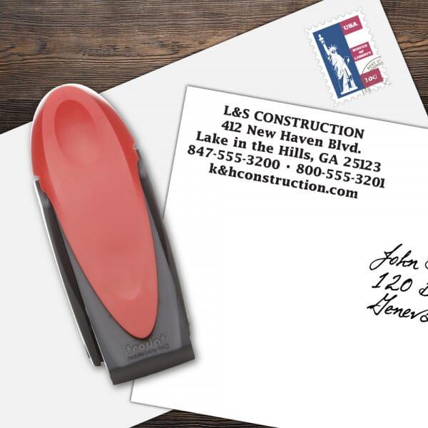 Custom 5 Line Mobile Printy Name and Address Stamp
