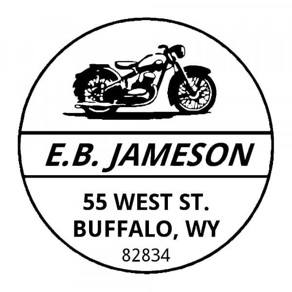 Monogram stamp round - No  24
