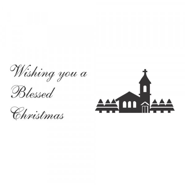 Craft Stamp - Wishing you a blessed Christmas