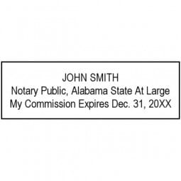 Alabama Notary Pre-Inked Stamp - 5/8 x 2-3/8