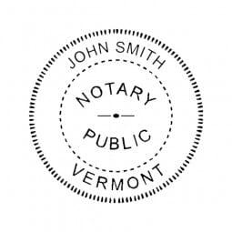 Vermont Notary Pre-Inked Pocket Stamp - 2 Diam. Round