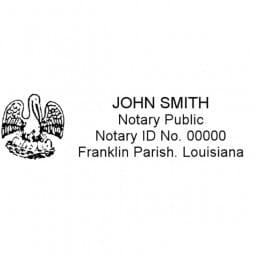 Louisiana Notary Pre-Inked Stamp - 15/16 x 2-13/16