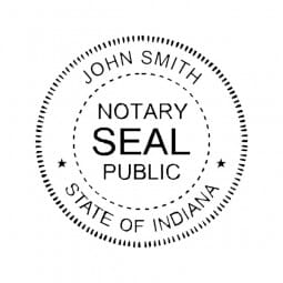 Indiana Notary Pocket Seal - 1-5/8 Diam. Round