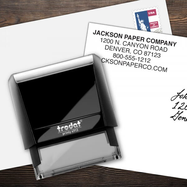 Custom 5 Line Trodat Printy Name and Address Stamp