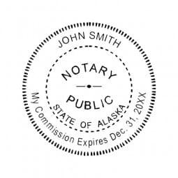 Alaska Notary Self-Inking Stamp - 1-5/8 Diam. Round
