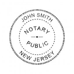 New Jersey Notary Self-Inking Stamp - 1-5/8 Diam. Round