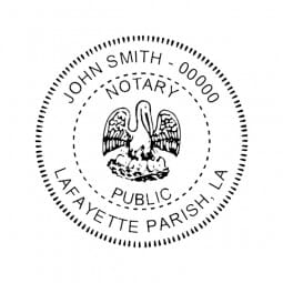 Louisiana Notary Pre-Inked Pocket Stamp - 2 Diam. Round