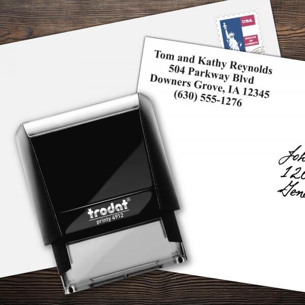 Custom 4 Line Trodat Printy Name and Address Stamp