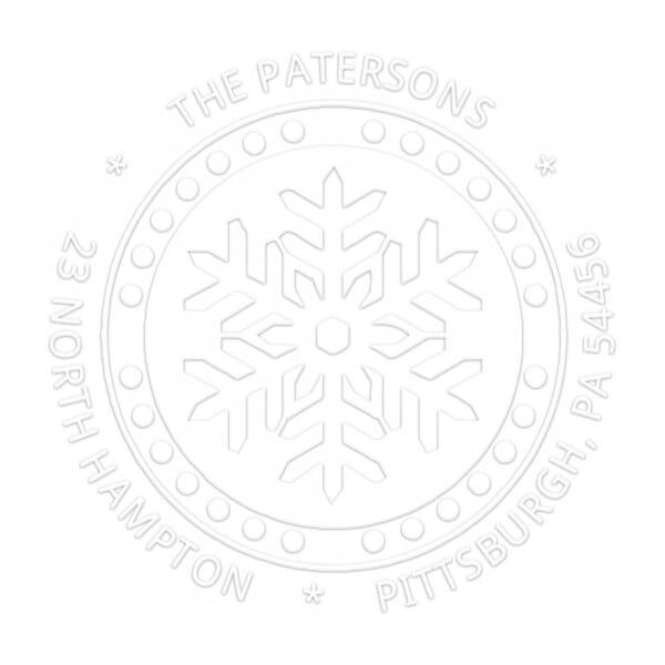 Snow Flake Round Monogram Seal