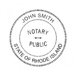 Rhode Island Notary Self-Inking Stamp - 1-5/8 Diam. Round