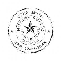 Texas Notary Self-Inking Stamp - 1-5/8 Diam. Round