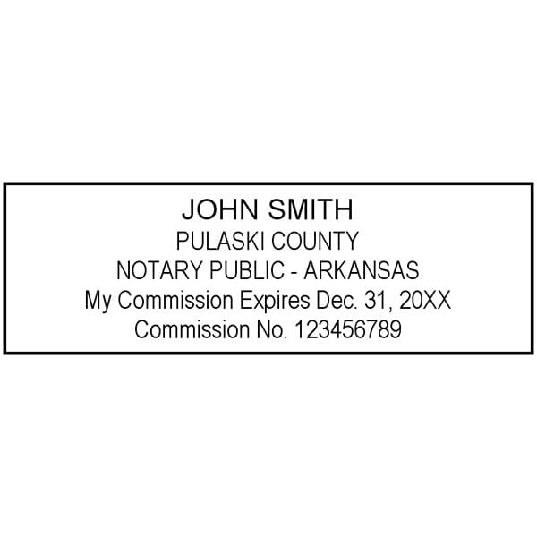 Arkansas Notary Pre-Inked Pocket Stamp - 7/8 x 2-3/8