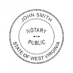 West Virginia Notary Pocket Seal - 1-5/8 Diam. Round