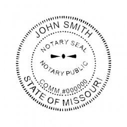 Missouri Notary Pre-Inked Pocket Stamp - 2 Diam. Round
