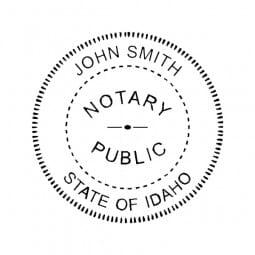 Idaho Notary Self-Inking Stamp - 1-5/8 Diam. Round