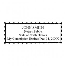 North Dakota Notary Self-Inking Stamp - 7/8 x 2-3/8