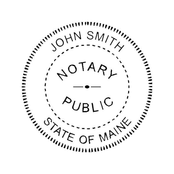 Maine Notary Self-Inking Stamp - 1-5/8 Diam. Round