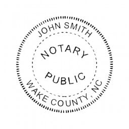 North Carolina Notary Self-Inking Stamp - 1-5/8 Diam. Round