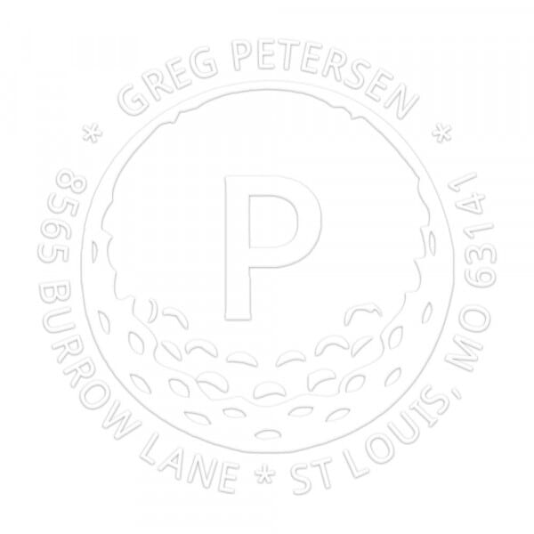Hole in One Round Monogram Seal