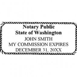 Washington Notary Pre-Inked Pocket Stamp - 1-7/16 x 3-1/8
