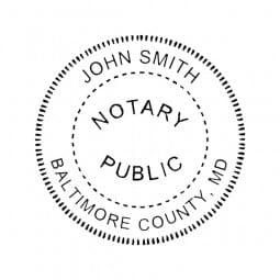 Maryland Notary Self-Inking Stamp - 1-5/8 Diam. Round