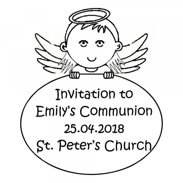 Customizable Communion Invitation Stamp